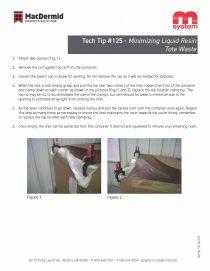 125 - Minimizing Liquid Resin Tote Waste