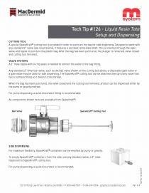 126 - Liquid Resin Tote Setup and Dispensing